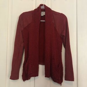 Lucky Brand Red Cardigan